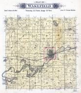 Wakefield Township, Cold Springs, Cedar Island Lake, Stearns County 1896 published by C.M. Foote & Co